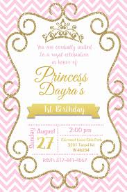 Princess 1 Birthday Princess Baby Shower Invitation Baby Shower Princess Pink Baby Shower Invitations