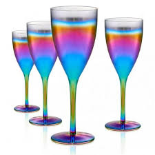 finding colored wine glasses in