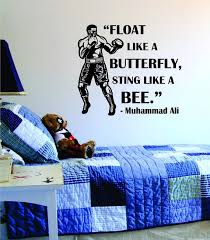 Muhammad Ali Float Like A Butterfly Sting Like A Bee Version 1 Design Boop Decals