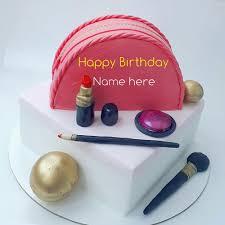 write name on birthday cake with makeup