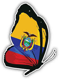 Amazon Com Jjh Inc Ecuador Flag Butterfly Vinyl Decal Sticker Waterproof Car Decal Bumper Sticker 5 Kitchen Dining