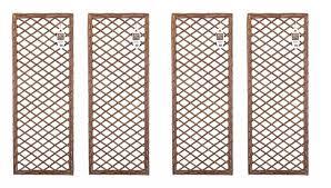 Uk Garden Supplies Set Of 4 X Lattice Willow Trellis Fence Panels