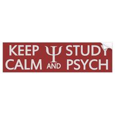 Keep Calm Study Psych Custom Bumpersticker Bumper Sticker Zazzle Com