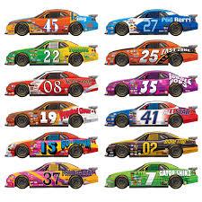 The Party Aisle Race Car 12 Piece Wall Decal Set Wayfair