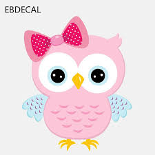 Ebdecal Cute Owl Girl With A Bow For Auto Car Bumper Window Wall Decal Sticker Decals Diy Decor Ct10432 Car Stickers Aliexpress