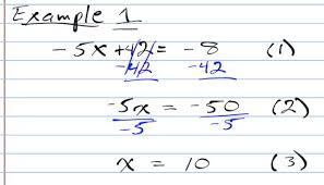 solving two step equations algebra