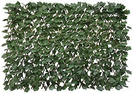Artificial Leaf Faux Ivy Expandable Stretchable Privacy Fence Screen Single Sided Leaves Amazon Co Uk Garden Outdoors