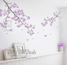 Lilac Cherry Blossom Wall Decals Vinyl By Cuma Wall Decals On Zibbet