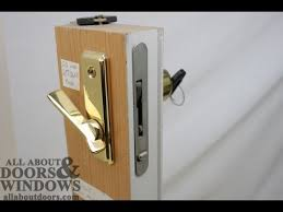 whitco sliding door lock jammed