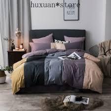 grey purple green pink bedding set twin