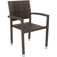 aluminum poly woven patio arm chair in