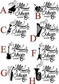Life Without Music Would B Flat With Musical Instrument Decal Vinyl Sticker Wall Ebay