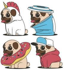Cute Funny Pug Dog Wall Stickers Ebay