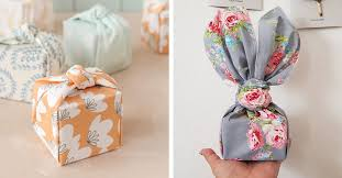 fabric gift wrap technique is an eco