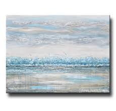Canvas Print Art Abstract Painting Landscape Blue Grey Neutral Decor Contemporary Art By Christine