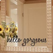 Hello Gorgeous Wall Sticker Motivational Quote Wall Sticker Removable Wall Decal Inspirational Girls Quotes Cut Vinyl Q5 Wall Sticker Motivation Removable Wall Decalsmotivational Quotes Aliexpress
