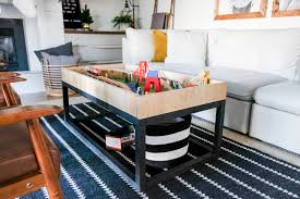 diy coffee table with train table storage