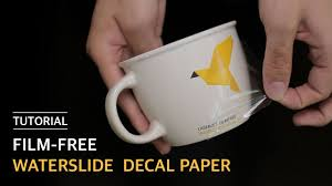 How To Use Film Free Waterslide Decal Paper 무필름 물전사지 Youtube