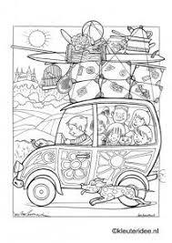 Op Vakantie Met De Auto 2 Kleurplaat Op Kleuteridee On Holiday
