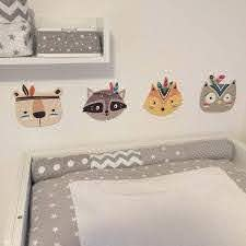 Nordic Style Wood Cartoon Animal Wall Hanging Cat Bear Fox Head Wall Decor For Kids Room Children Room Nursery Home Decoration Wind Chimes Hanging Decorations Aliexpress