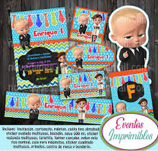 Kit Imprimible Jefe En Panales Boss Candy Bar Invitaciones