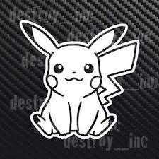 Pikachu Pokemon Go Car Truck Laptop Window Wall Sticker Vinyl Decal Ebay