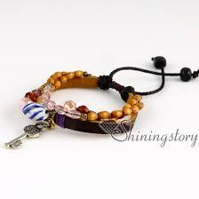 key flower wings snap charm bracelets