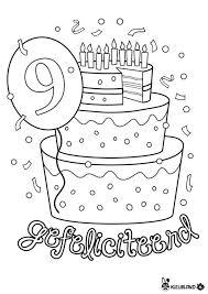 Verjaardagstaart 9 Jaar Kleurplaten Verjaardagsideeen