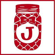 Moroccan Mason Jar Monogram Vinyl Decal Monogram Vinyl Decal Monogram Mason Jar Decorations