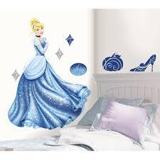 Room Mates Popular Characters Disney Princess Cinderella Glamour Giant Wall Decal Reviews Wayfair