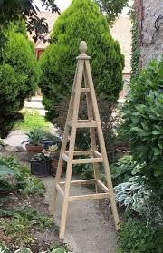 wooden garden obelisk accoya natural 25