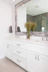 vanity with crisp white cabinets