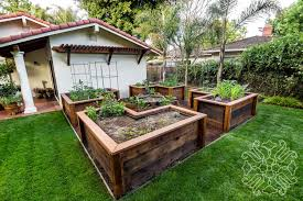 raised bed vegetable garden casa