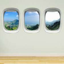 Vwaq Tropical Window Clings Decals Nature Vinyl Wall Art Mural Decor Airplane Window Sticker Ppw43 Walmart Com Walmart Com