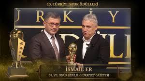 İsmail ER - 33. Yıl Onur Ödülü - 15. Türkiye Spor Ödülleri - YouTube