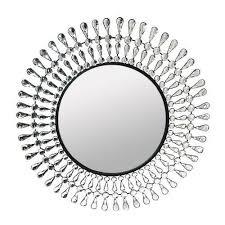 round wall mirror crystal wall decor