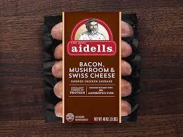 bacon mushroom swiss cheese aidells