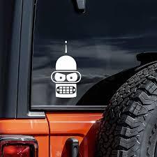 Amazon Com Bender Face Future Rama Vinyl Decal Sticker Cars Trucks Vans Walls Laptops White 5 5 Automotive