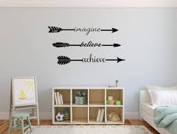 Imagine Believe Achieve Wall Decal Arrow Theme Decor Etsy In 2020 Inspirational Wall Decals Motivational Wall Decor Wall Decals