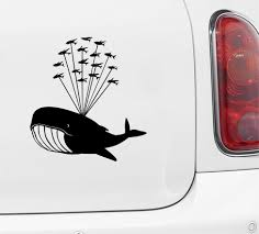 The Decal Store Com By Yadda Yadda Design Co Car Whale Airlift With Flying Fish Design 1 Whale Car Decal Viny