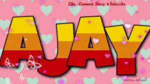 ajay name status 1280x720 wallpaper