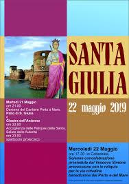 Mercoledì 22 Maggio, Festa della Santa Patrona S. Giulia – Diocesi ...