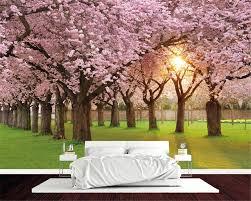 Beibehang مخصص 3d خلفيات رومانسية المائية الكرز الصورة المشهد