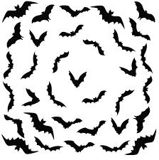 Scary Bats Halloween Decal Set Of 34 Bats 1168 Innovativestencils