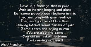 its a pure feeling sad love poem for him