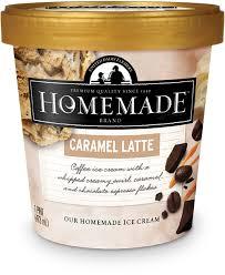 caramel latte homemade brand ice cream