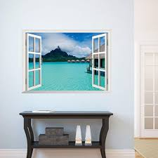 Sea View Wall Decal Sticker 3d Fake Window View Wall Art Mural Decor Home Decoration Wall Applique Poster Scenery Wallpaper Wall Tattoos Wall Tattoos Decals From Ghk418418 9 28 Dhgate Com