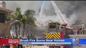 Brush Fire Burns Chino Hills Home - YouTube