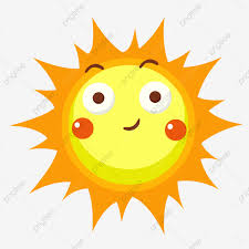 وجه مضحك من ناحية رسم أصفر دافئ وجه مبتسم الشمس لطيف تعبيرات