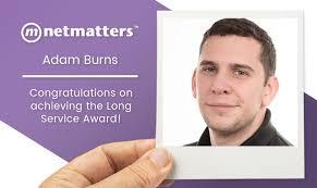 Adam Burns Achieves the Long Service Award | Netmatters | Netmatters